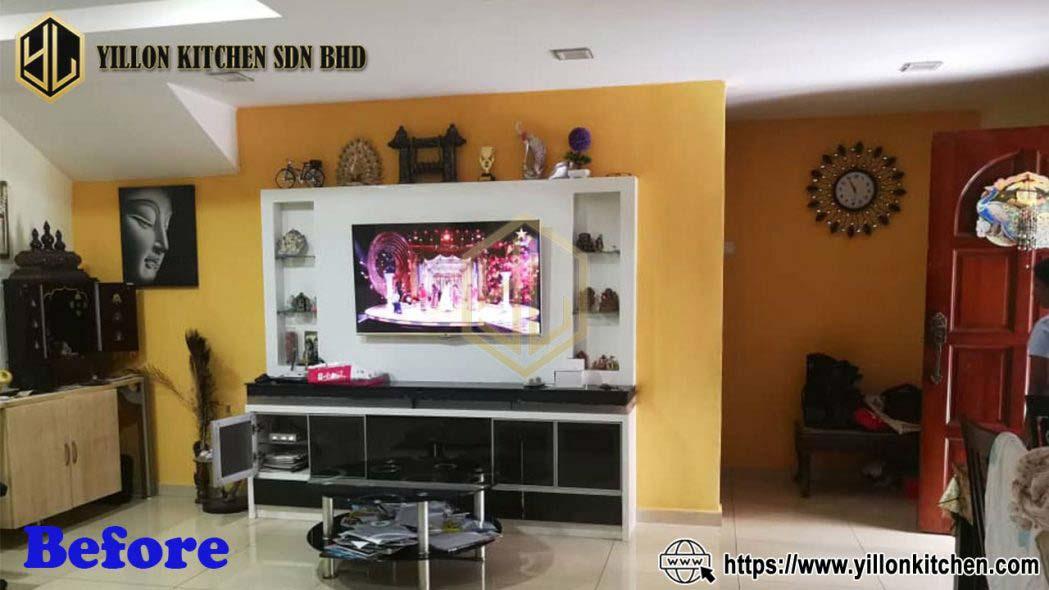 cheras danish living room tv before